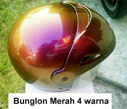 Cat bunglon helm merah