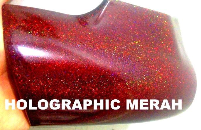 Cat holographic merah helypaints