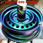 Cat bunglon biru velg 4 warna