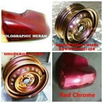 Cat bunglon merah red chrome