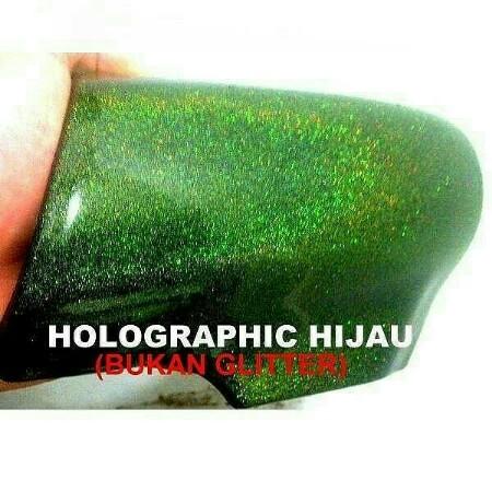 Cat holographic hijau helypaints