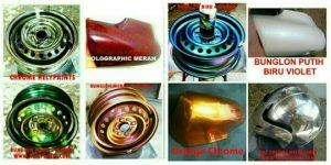 Cat Holographic merah merk helypaints